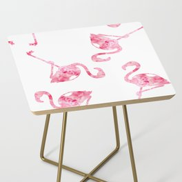 flock of flamingos Side Table