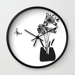 Still Life with Flowers Wall Clock