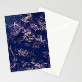 A macro photo of a bunch of cannabis kush Stationery Cards