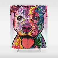 rottweiler Shower Curtains featuring Rottweiler Dog by trevacristina