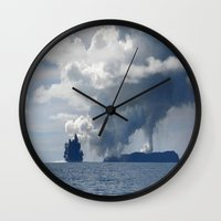 duvet cover Wall Clocks featuring AMAZING CLOUD DUVET COVER by aztosaha