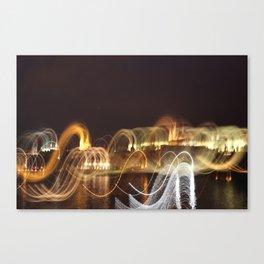 Prague in Lights Canvas Print