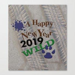 A Happy New Year! Wild! Canvas Print