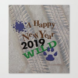 A Happy New Year! Wild! Canvas Print