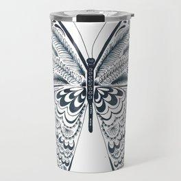 Blue Butterfly Mandala Travel Mug