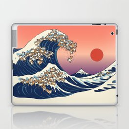 The Great Wave of Shiba Inu Laptop & iPad Skin