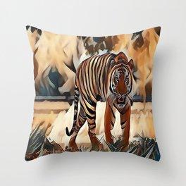 The Bengal Tiger Throw Pillow