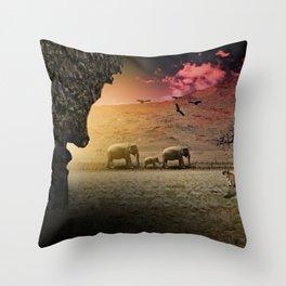 Stalking nature Throw Pillow