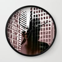 anonymous Wall Clocks featuring anonymous by MehrFarbeimLeben