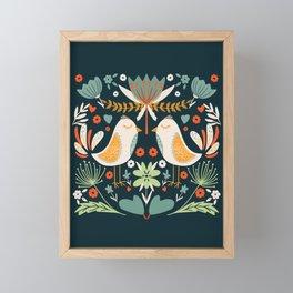 Birds pattern Framed Mini Art Print