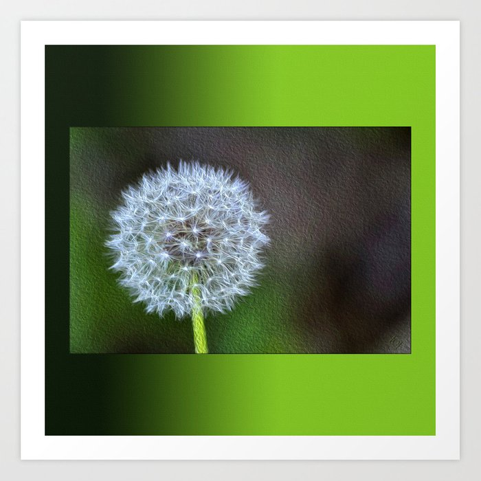 Dandelion ready to fly away - op Art Print