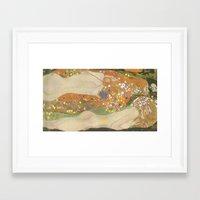 klimt Framed Art Prints featuring klimt by Ori Vishnia
