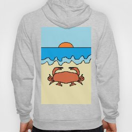 crab on beach with sunset Hoody