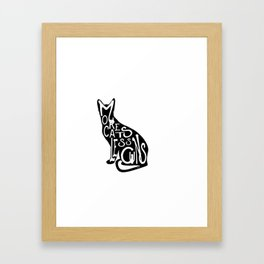 More Cats Less Guns™ Framed Art Print