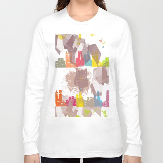 """the wolf in the town"" Long Sleeve T-shirt"