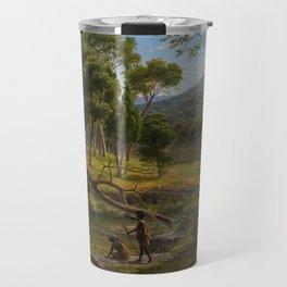 Warrenheip Hills near Ballarat by Eu von Guerard Date 1854  Romanticism  Landscape Travel Mug