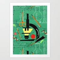 biology Art Prints featuring BIOLOGY by cecimonster