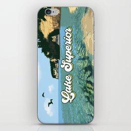 Lake Superior Retro iPhone Skin