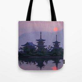 Yakushiji at Sunset Tote Bag