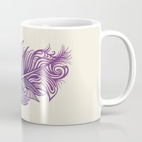 supreme Mugs featuring Supreme Plumage by Rachel Caldwell