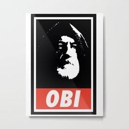 Obey Wan Metal Print
