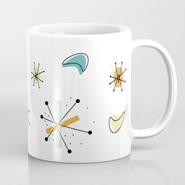 1950s Retro Atomic Pattern Coffee Mug