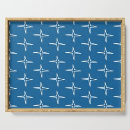 Nautical Star Blue #homedecor Serving Tray