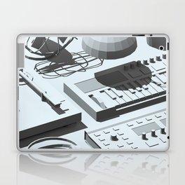 Low Poly Studio Objects 3D Illustration Grey Laptop & iPad Skin