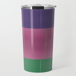 Purple Pink Green Bold Stripes Travel Mug
