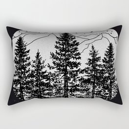 Night Time in the Forest Rectangular Pillow