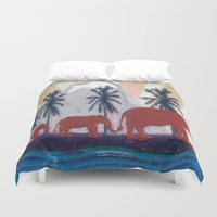 elephants Duvet Covers featuring Elephants by LoRo  Art & Pictures