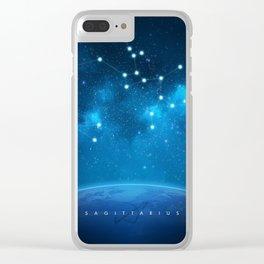 Sagittarius: Astrological Art Clear iPhone Case