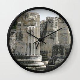 Fluted Ionic Columns - Temple of Apollo, Turkey Wall Clock