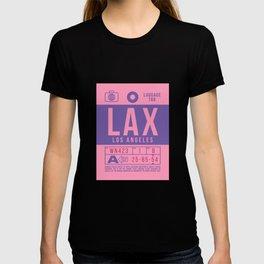 Baggage Tag B - LAX Los Angeles California T-shirt