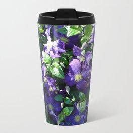 Blue Clematis Travel Mug