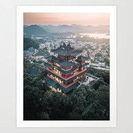 Chenghuang Pavilion Art Print