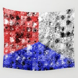 Glass Tiles Tricolor RWB Wall Tapestry