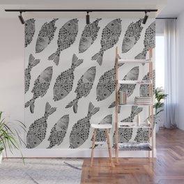 Indonesian Fish Duo – Black Palette Wall Mural