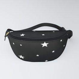 Scattered Stars - white on black Fanny Pack