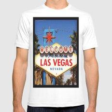 Ah Vegas... Mens Fitted Tee White MEDIUM