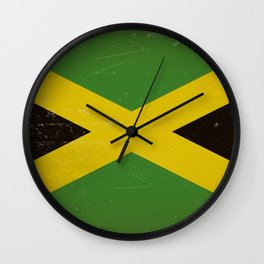 Vintage flag of Jamaica Wall Clock