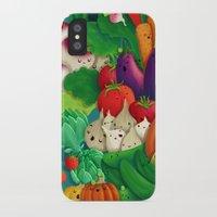 danny ivan iPhone & iPod Cases featuring Nice People Eat Vegetables - background (Made with Danny Ivan) by Lidija Paradinović Nagulov - Celandine