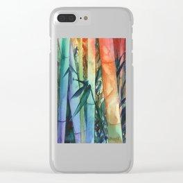 Kauai Rainbow Bamboo 2 Clear iPhone Case
