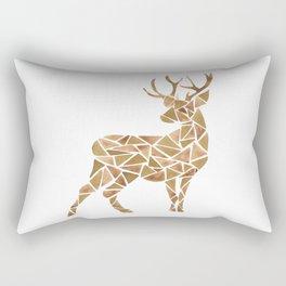 Geometric deer Rectangular Pillow