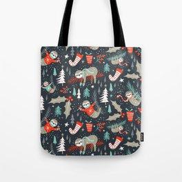 Slothy Holidays Tote Bag
