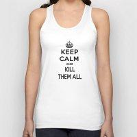 keep calm Tank Tops featuring Keep Calm by Lunaramour