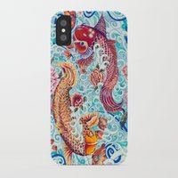 koi fish iPhone & iPod Cases featuring Koi Fish by Art by Risa Oram