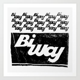 bi way bag Art Print