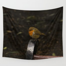 Resting Robin Wall Tapestry