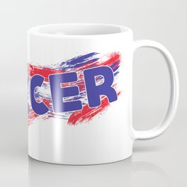 Soccer Red, White and Blue Coffee Mug